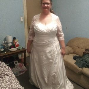Wedding dress   plus size 20 w